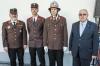 Unterabschnittskommandant Karl Knapp, Gregor Maar, Philipp Besenbeck und Bürgermeister Anton Pfeifer (von links). Foto: Leneis