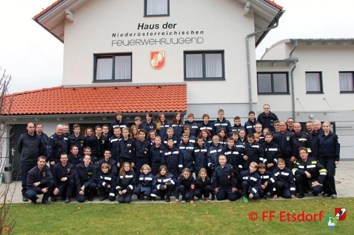 Feuerwehrjugend Etsdorf und Engabrunn im Haus der Feuerwehrjugend in Altenmarkt