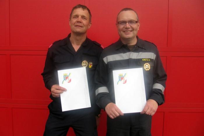 Zwei Neue FLA Gold-Besitzer bei der Feuerwehr Etsdorf