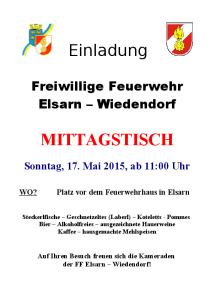 Einladung FF Fest 2015 Elsarn-Wiedendorf