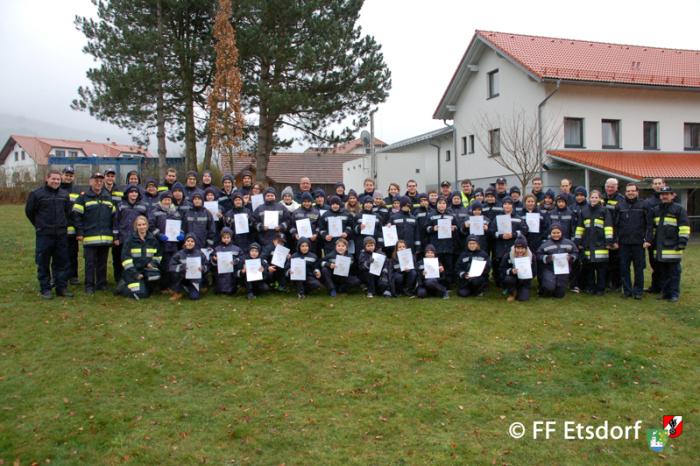 FJ Etsdorf, Engabrunn, Mautern und Rohrendorf zu Besuch im Haus der NÖ Feuerwehrjugend in Altenmarkt