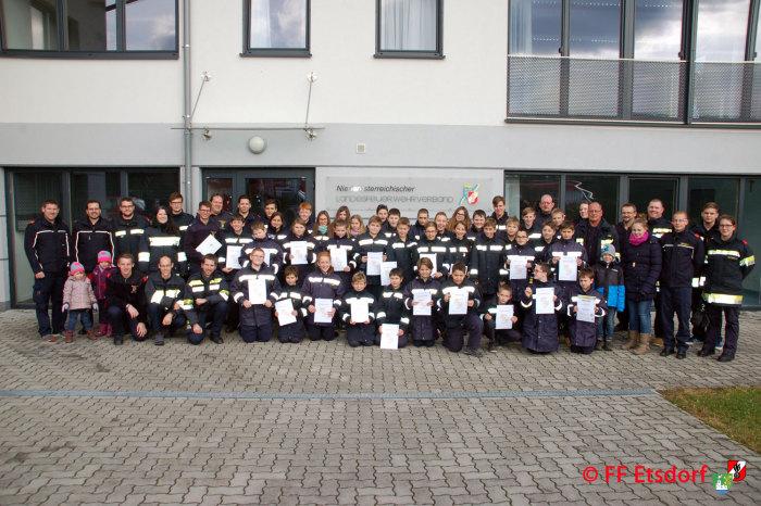 Feuerwehrjugend Etsdorf, Engabrunn, Mautern und Rohrendorf zu Besuch im Haus der NÖ Feuerwehrjugend in Altenmarkt