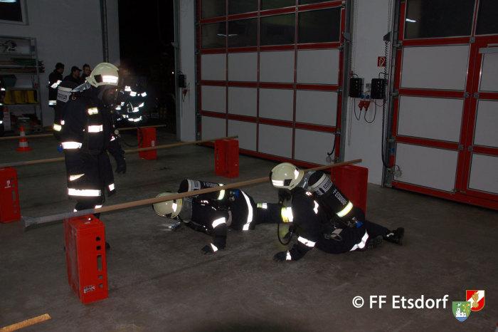 Abschnittsatemschutzübung des Unterabschnittes Grafenegg