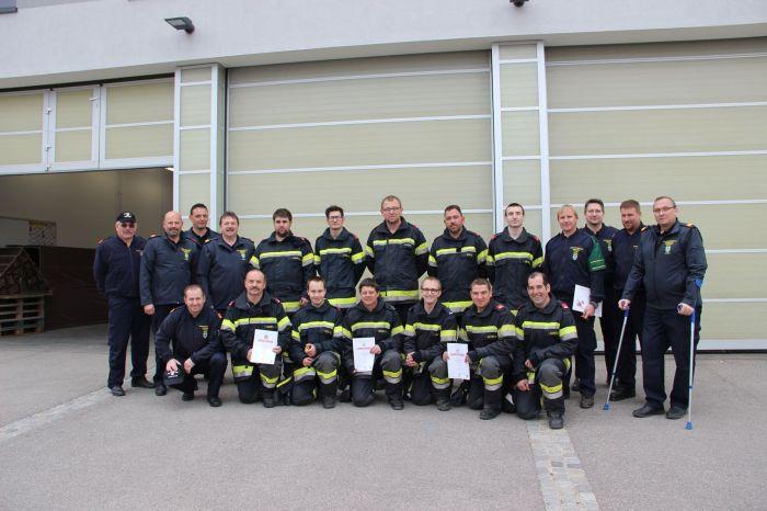 FF Gobelsburg / Zeiselberg absolviert Ausbildungsprüfung Atemschutz