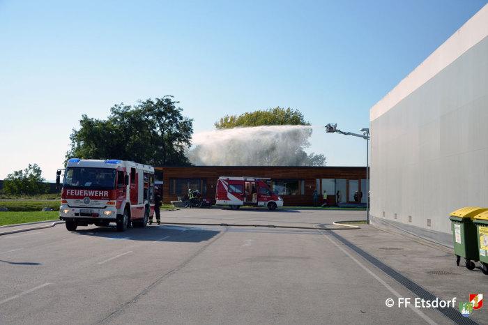 Bezirksübergreifende Übung – Alarmstufe B4 im Gewerbepark Grafenwörth