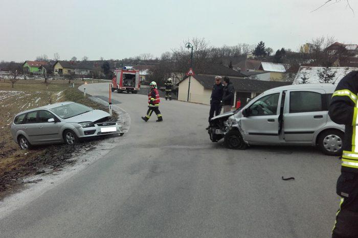 Verkehrsunfall auf der L55 in Zeiselberg