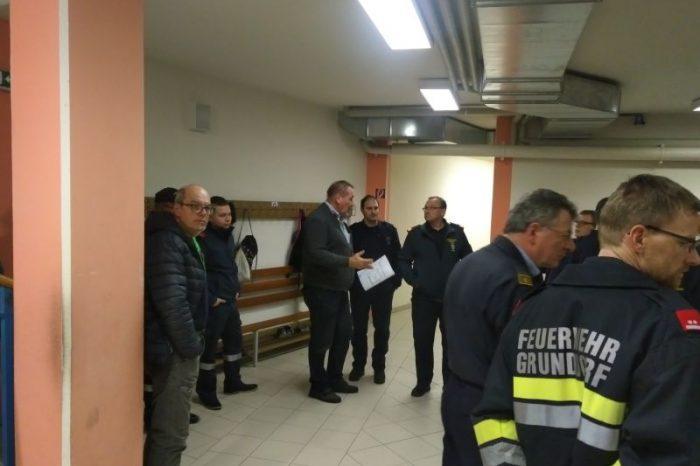 Brandschutzbegehung in der Neuen Mittelschule Grafenegg