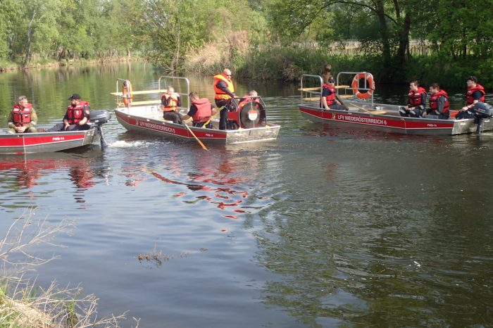 Wasserdienstübung des Abschnittes Langenlois