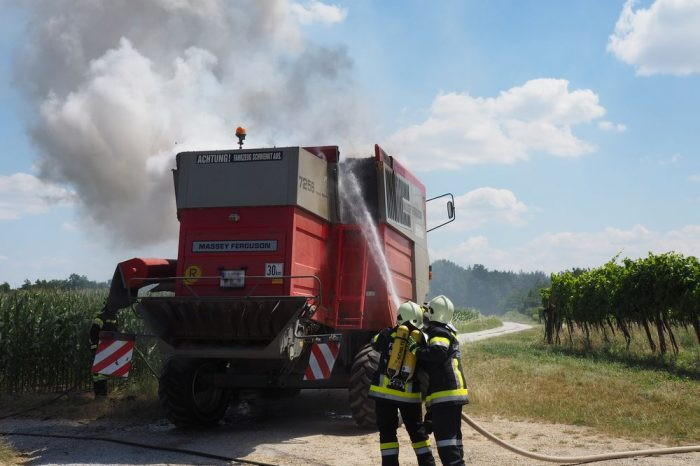 Mähdrescherbrand in Reith