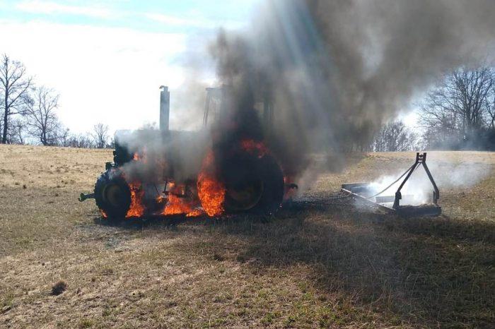 Fahrzeugbrand an der L1244