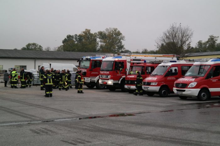 Gemeinsame Übung der Feuerwehren Kammern, Gobelsburg und Hadersdorf