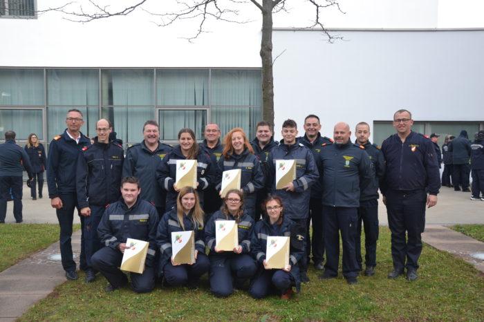 Feuerwehrjugendleistungsabzeichen in Gold der Feuerwehrwehrjugend