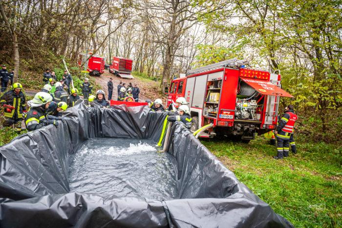 Waldbrandübung in Zöbing