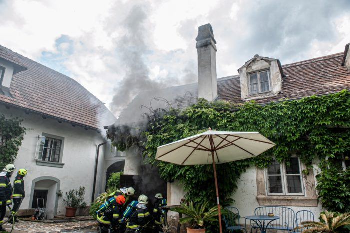 Brandeinsatz für die FF Gobelsburg / Zeiselberg