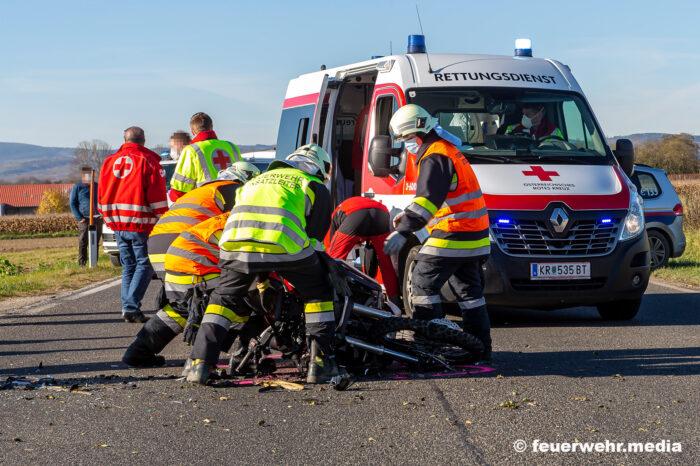 Verkehrsunfall auf der B34